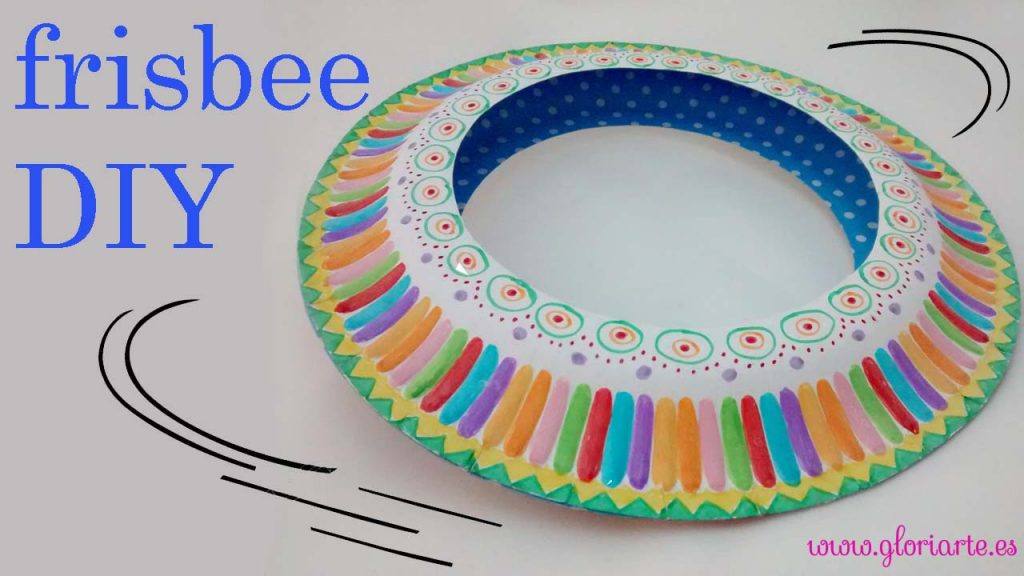 Frisbee DIY con platos de papel