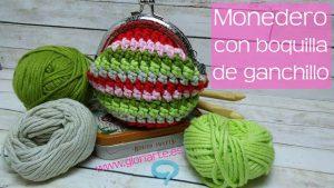 Monedero de ganchillo con boquilla   Punto bajo extendido crochet
