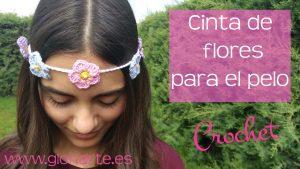 Cinta de flores para el pelo de ganchillo