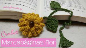Marcapáginas flor popcorn
