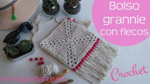 Bolso de crochet granny estilo boho