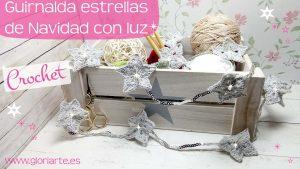 Luces estrellas de Navidad de ganchillo: guirnalda para decorar