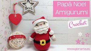 Papá Noel de ganchillo amigurumi