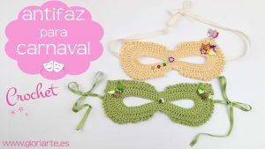 Antifaz o máscara de carnaval de crochet (a medida)