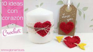 Corazón de ganchillo y 10 ideas para San Valentín