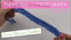 Curso crochet: punto bajo o medio punto