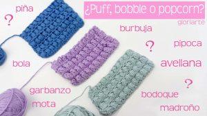 Curso crochet: punto popcorn, bobble y puff