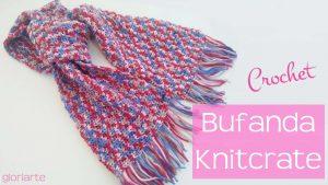 Bufanda con flecos knitcrate