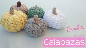 Calabazas decorativas crochet