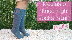 "Medias o knee-high socks ""star"""