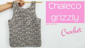 Chaleco grizzly crochet