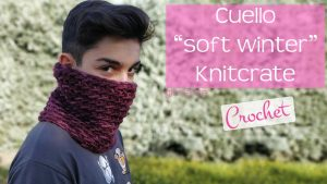 "Cuello ""Suave Invierno"" de crochet"