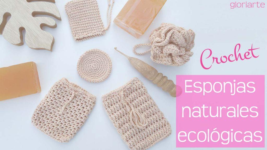 Esponjas naturales y ecológicas de crochet BIO 100% algodón orgánico