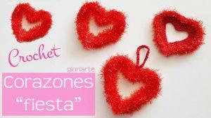 """Corazón """"fiesta"""" de crochet"""