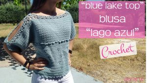 "Top Crochet ""Lago Azul"""