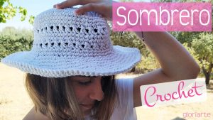 "Sombrero de ganchillo blanco ""White Cruise Crochet"""