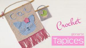 Tapiz crochet: técnica cambio de color fácil, con hilos en espera, sin llevar por detrás.