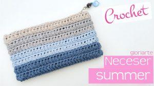 Neceser o estuche de crochet summer
