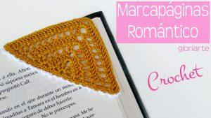 Marcapáginas Romántico con hilo muy fino de perlé