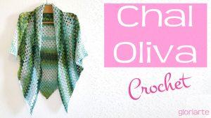 Chal Oliva Crochet, súper fácil y rápido