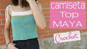 Top o camiseta Maya Crochet (TODAS LAS TALLAS)