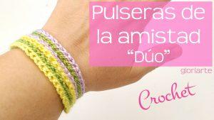 """Pulseras de la amistad en crochet """"duo"""""""