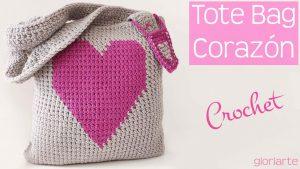 Tote Bag Corazón Crochet